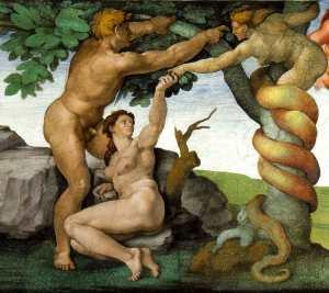 Temptation of Eve, Michelangelo